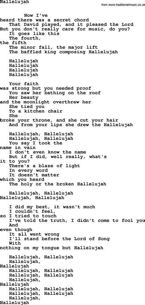 hallelujah lyrics full version leonard cohen 25 best ideas about leonard cohen lyrics on pinterest