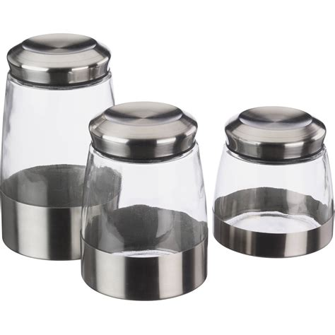 stainless steel canister sets kitchen kitchen stainless steel canisters walmart com