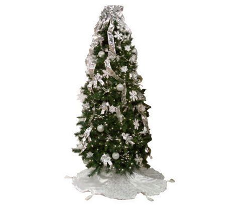 simplicitree 7 1 2 prelit pre decorated tree w remotecontrol page 1 qvc