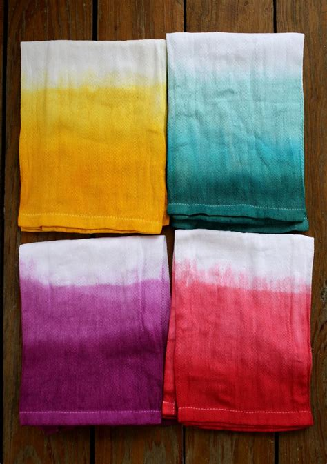 upholstery dying double dip dyed napkin set a beautiful mess