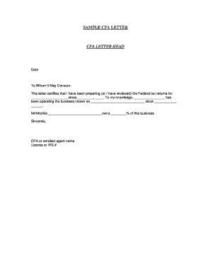 cpa letter fill printable fillable blank pdffiller