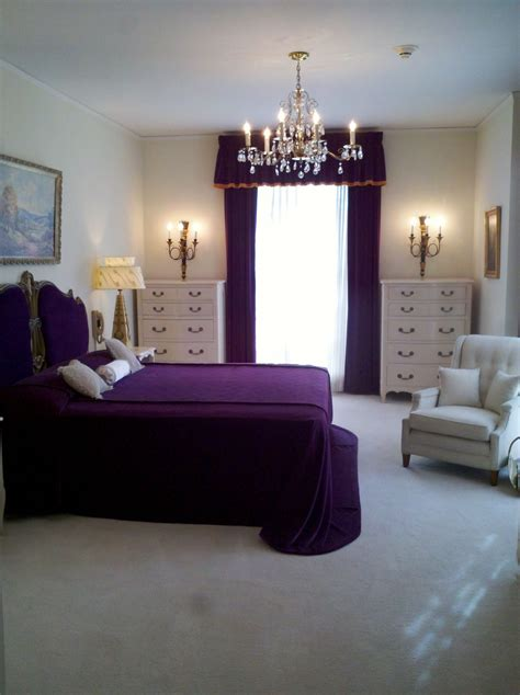 Classic Color Schemes luxurious master classic bedroom with purple color scheme