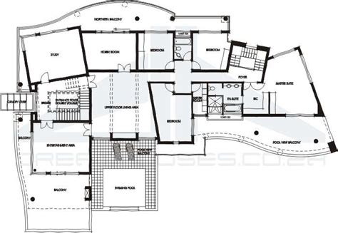 contemporary home floor plans contemporary house plans