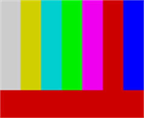 test pattern pal colour bars