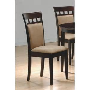 Cappuccino Dining Chairs Set Of 2 Contemporary Style Cappuccino Finish Dining Chairs Dinning Chairs