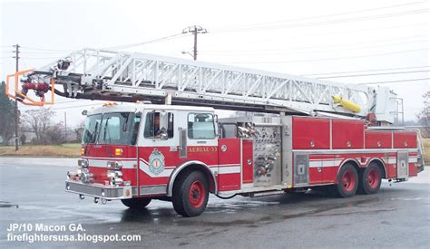 Superior Church Of God Macon Ga #10: Macon+Bibb+County+Georgia+Fire+Department,Aerial+33+Truck+corner,.JPG
