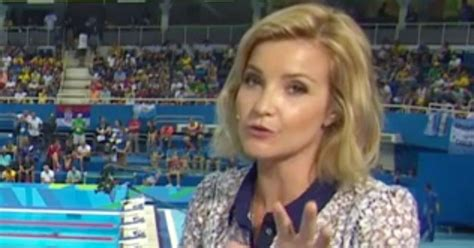 helen skelton rio olympics 2016 host wardrobe malfunction rio olympics host helen skelton opts for longer dress