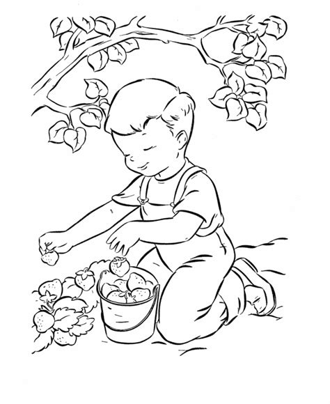 strawberry coloring pages for kids coloring home