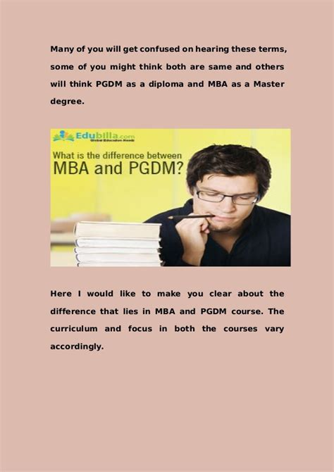 Difference Between An Mba And Masters by Do You The Difference Between Mba And Pgdm