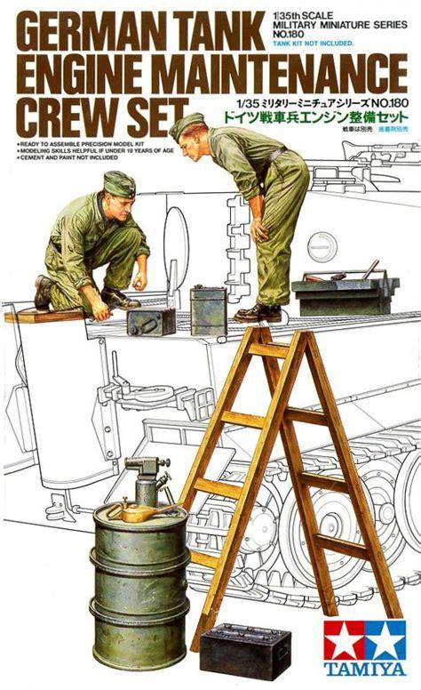 1 35 German Field Maintenance Team Tamiya Model Kit Mokit tamiya 35180 1 35 model kit german tank engine maintenance crew set ebay
