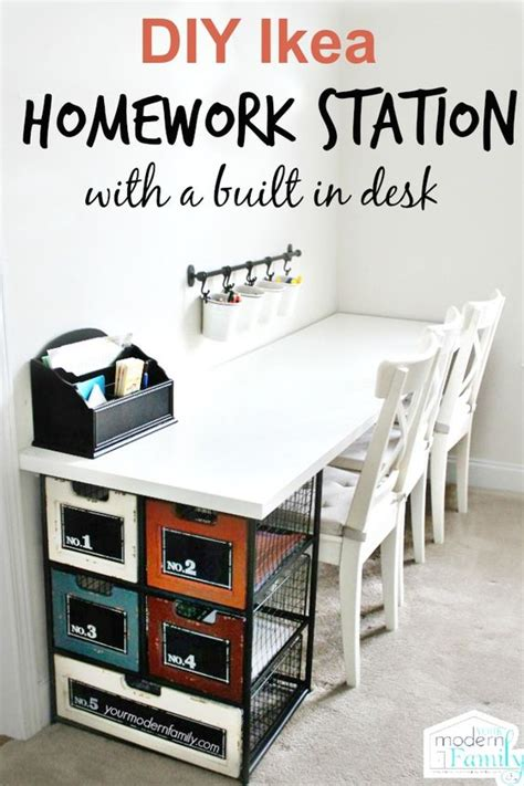 homework desk ideas homework station homework and diy ideas on pinterest