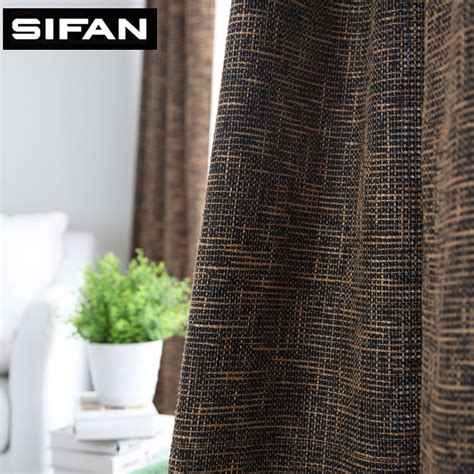 colored burlap curtains japan solid color burlap blackout curtains for living room
