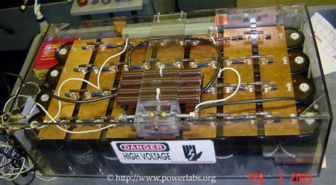 railgun capacitor bank powerlabs new rail gun