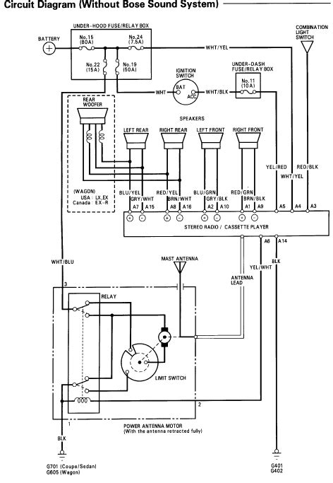 94 honda accord stereo wiring diagram efcaviation