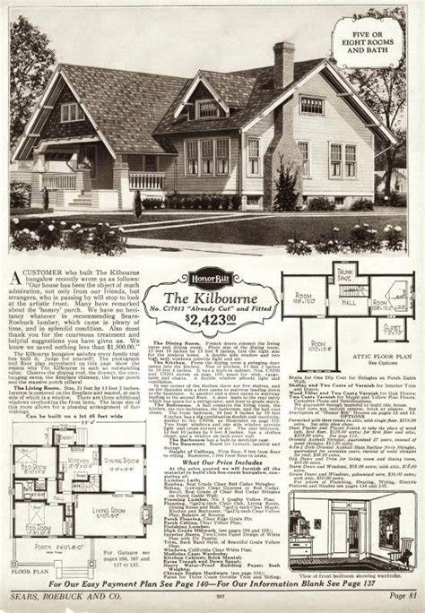 fantastic sears plan the quot kilbourne quot homes