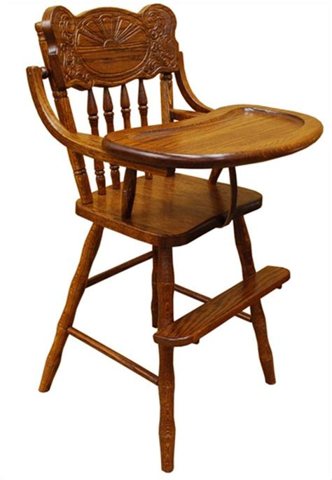 High Chairs Wooden by Baby Furniture Wood High Chair Amish Back