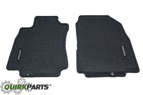 2010 2012 nissan versa front rear charcoal carpeted