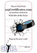 hockey certificate templates free printable sports certificates sports awards