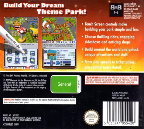 theme park ds theme park 2007 nintendo ds box cover art mobygames