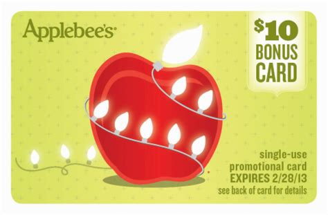 Applebees Gift Card Promotion 2017 - applebee s gift cards promotions lamoureph blog