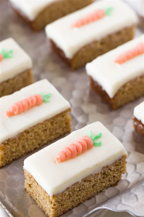 Ideas To Decorate Kitchen by Carrot Cake Bars With Cream Cheese Frosting Lovely