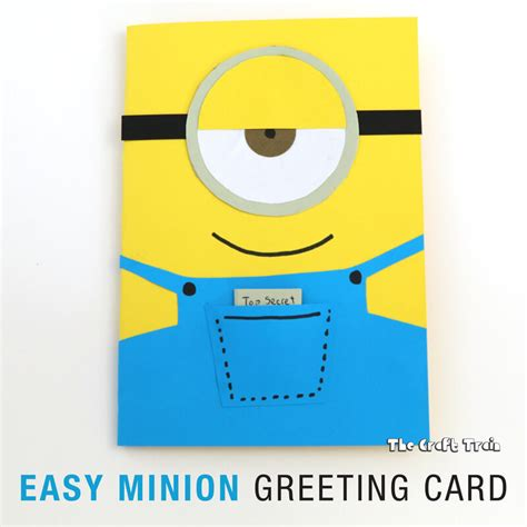 minion greeting card template easy minion greeting card the craft