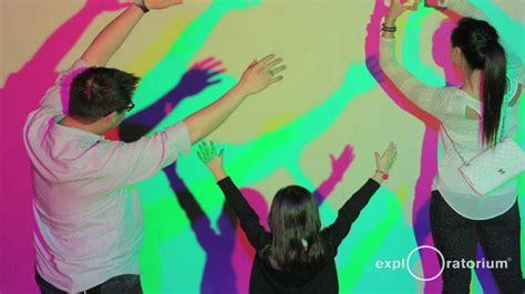 colored shadows colored shadows exhibit i exploratorium