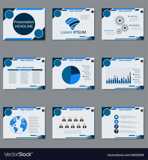 Professional Business Presentation Template Vector Image Business Presentation Templates