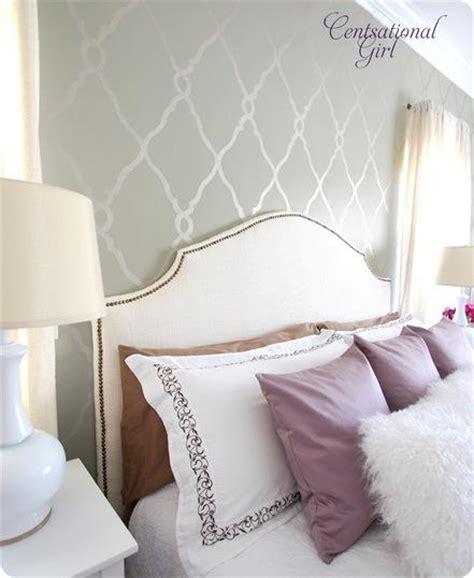 headboard stencils for walls master bedroom mini makeover centsational girl