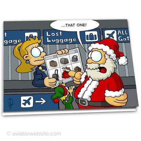 christmas airplane jokes aviation card quot at lost luggage quot 10 cards aviatorwebsite