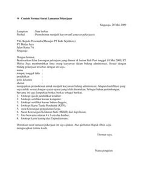 5 surat lamaran pekerjaan dalam bahasa inggris contoh