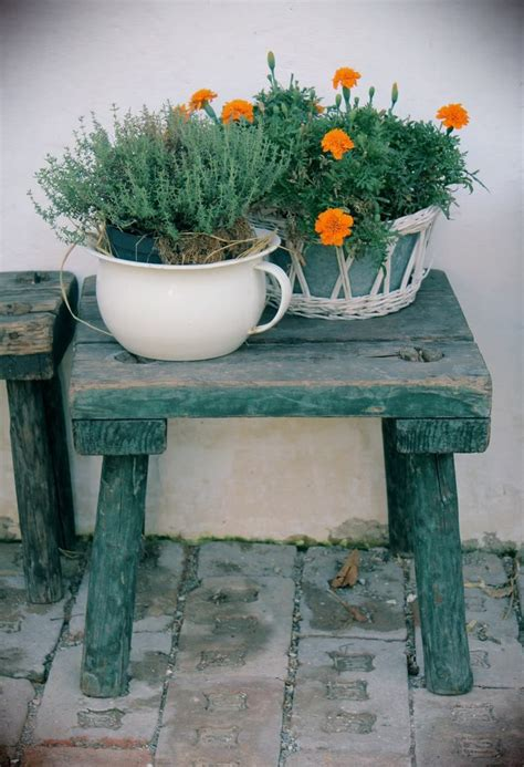 green bench flowers small green bench with herbs and flowers welcome to
