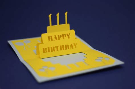 how to make a simple pop up birthday card birthday pop up card simple birthday cake creative pop