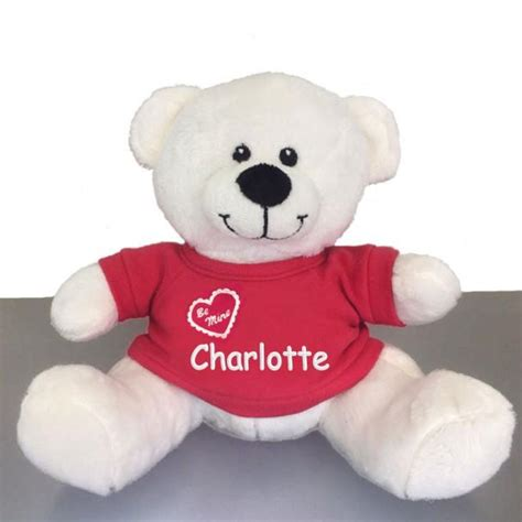 personalized valentine s snuggle teddy bear white 10
