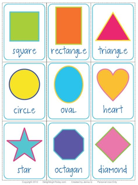 printable flashcards for preschool 8 best images of printable shape flash cards for toddlers