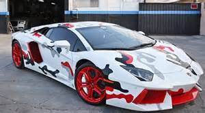 Pimped Out Lamborghini Chris Brown S Lambo Gets A New Paint