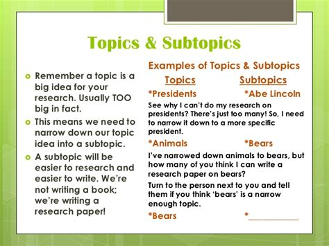 Subtopics For Research Paper by Introducing Research Writing To 3rd Graders A K 5 Common Lesson