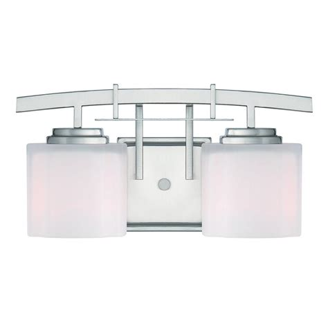 Bathroom Lighting At The Home Depot by Home Decorators Collection 2 Light Brushed Nickel Retro Vanity Light 1001564507 The Home Depot