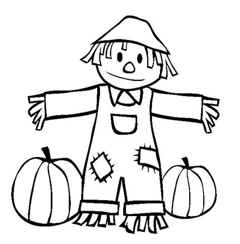 cute scarecrow coloring page site about chilen 17051