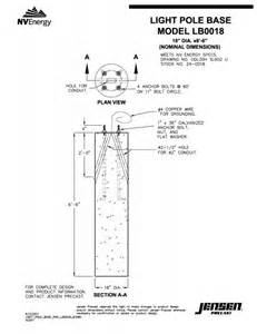light post base precast electrical light pole bases