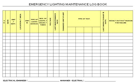 test and tag log book template 24 images of electrical log book template infovia net