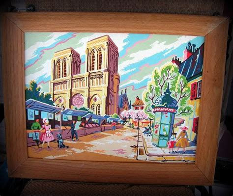 Painting M D F by Vintage Notre Dame Framed Paint By Number Painting Mid