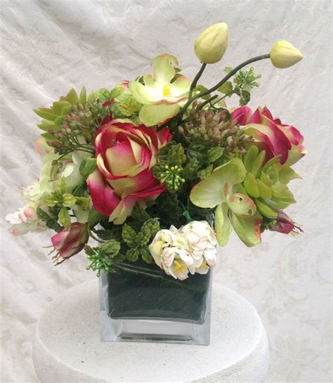 silk floral arrangement home decor special occasion gift