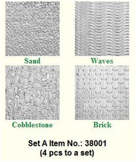 Sand Mats For Cing by Impression Mat Set Of 4 Sand Waves Cobblestone Brick