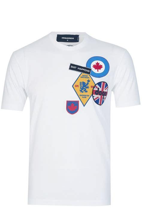 Tshirt D dsquared badges t shirt white