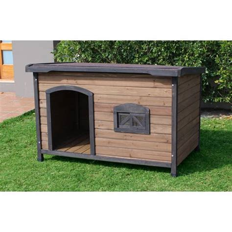 buy dog house brunswick x large wooden insulated flat dog house buy wood dog houses