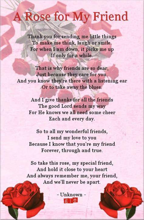 rose   friend poems pinterest rose friendship  poem
