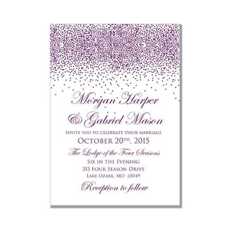 diy wedding invitations on microsoft word printable wedding invitation purple wedding purple