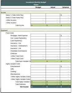 Household Budget Template by Household Budget Template 5 Free Word Excel Pdf