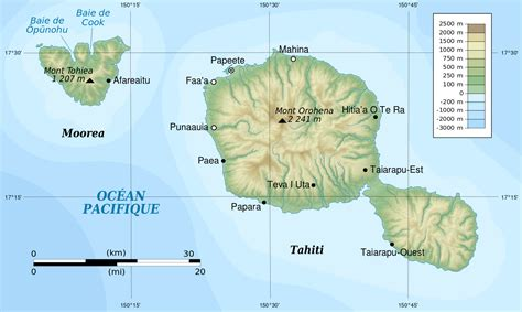 map of tahiti file tahiti and moorea topographic map svg wikimedia commons